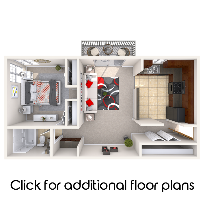 Floor Plans of Auburn Place Apartments in East Lansing, MI
