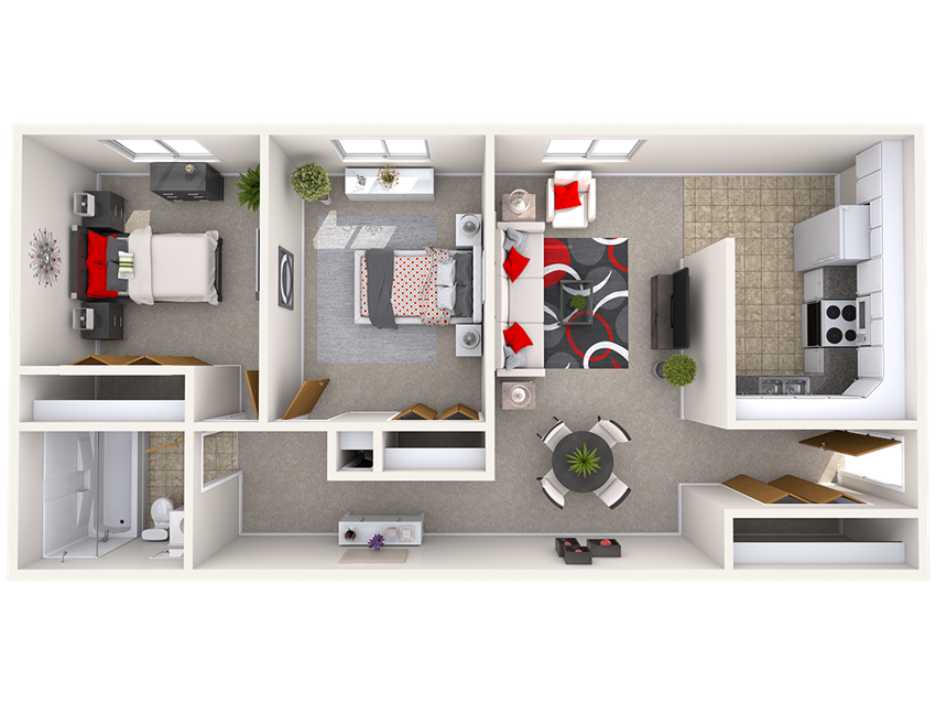 2 Bedroom Floor Plan Beechwood Apartments