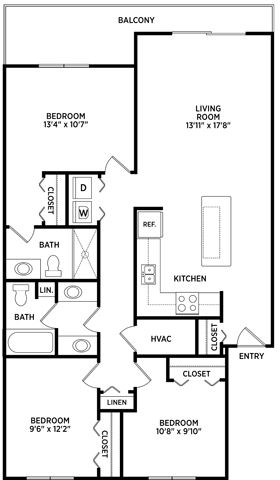 3 Bedroom 2 Bathroom for 3 People (rate per person)