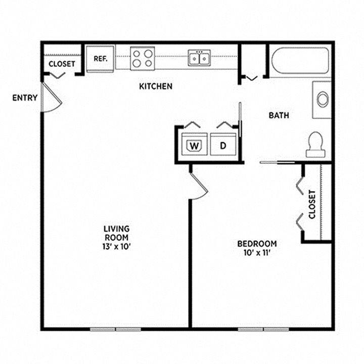 Floor Plans Of Cedar Greens Apartments In East Lansing, MI