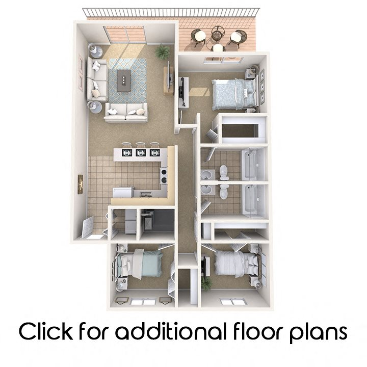 Floor Plans Of Park Place Apartments In East Lansing, MI