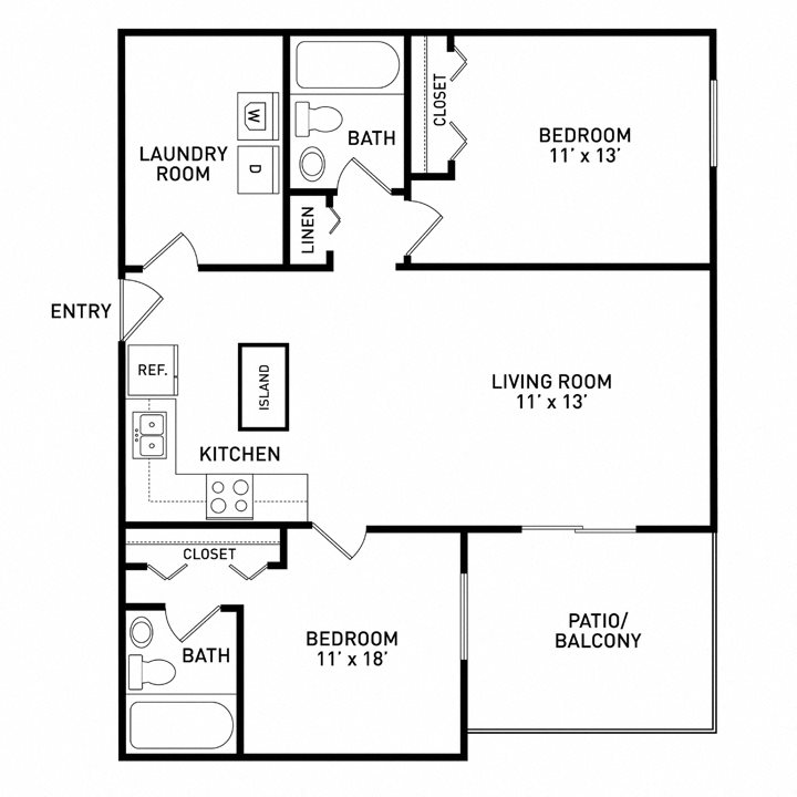 One Bedroom Apartments East Lansing: Floor Plans Of River Park Apartments In East Lansing, MI