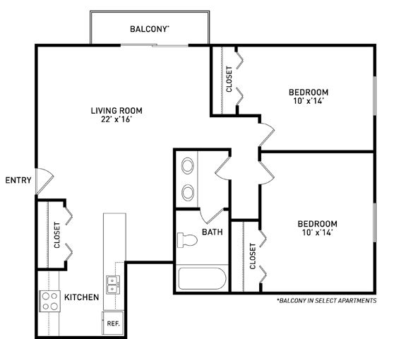 2 Bedroom 1 Bathroom for 4 People (rate per person)