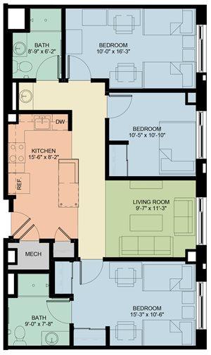 3 Bedroom/2 Bath