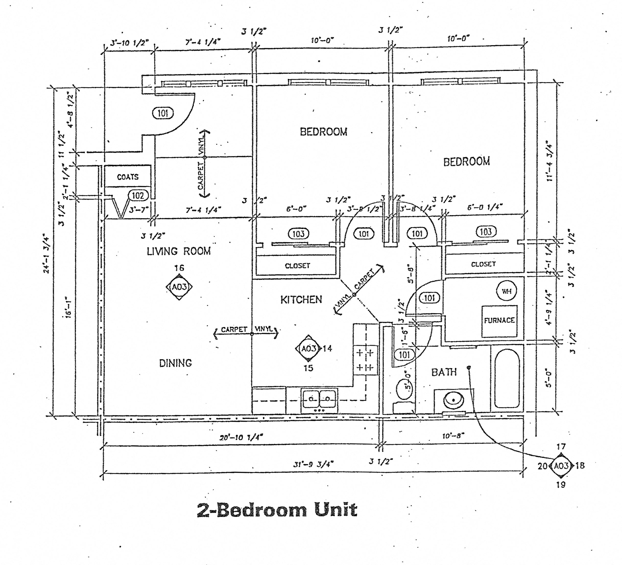 2 Bedroom Floor Plan 1