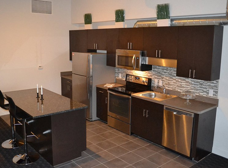 Spacious Kitchen at at Arbor Lofts