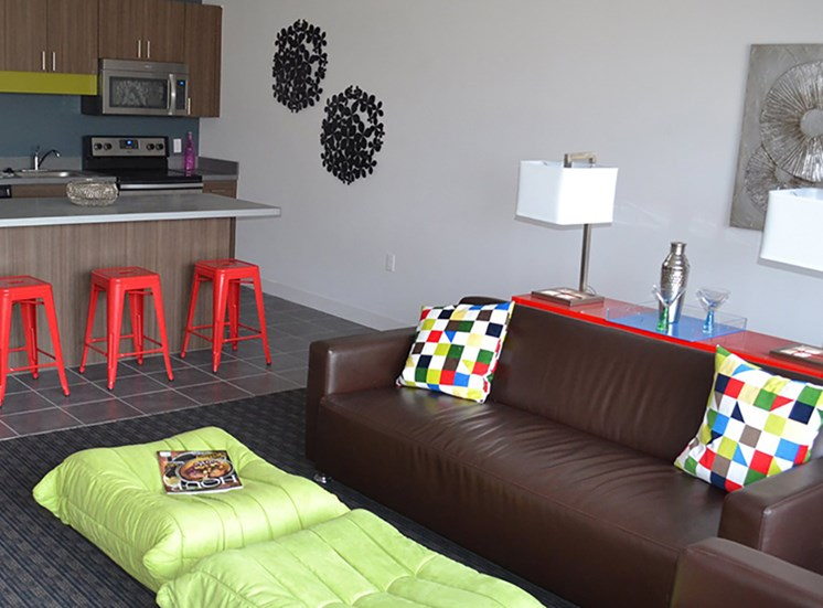 Spacious Living Area at Arbor Lofts