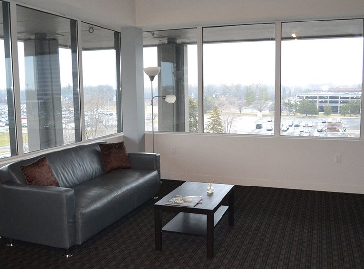 Living Area at Arbor Lofts