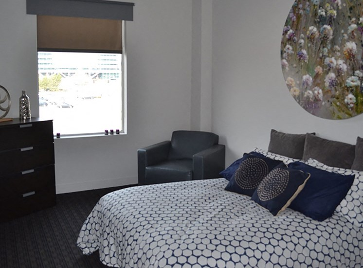 Spacious Bedroom at Arbor Lofts