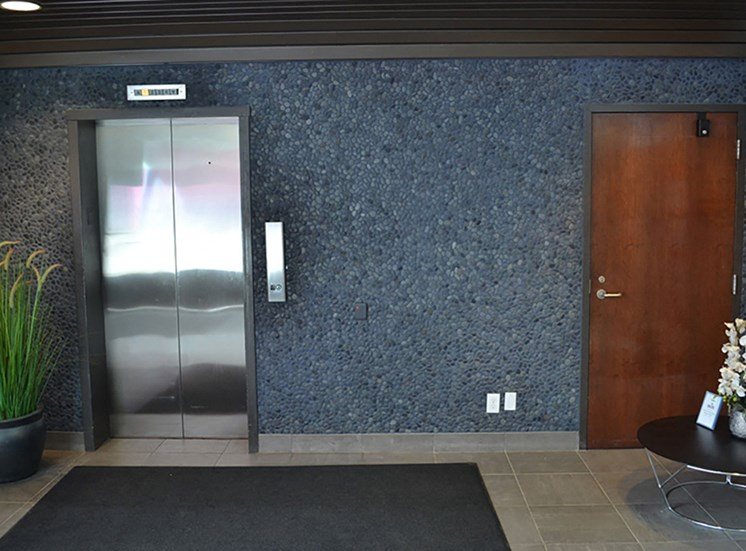 Lobby Elevators at Arbor Lofts
