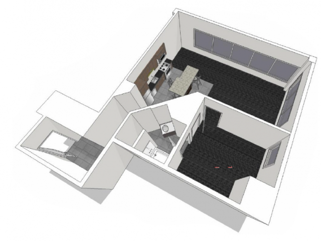 City 1: One Bedroom Floor Plan 5
