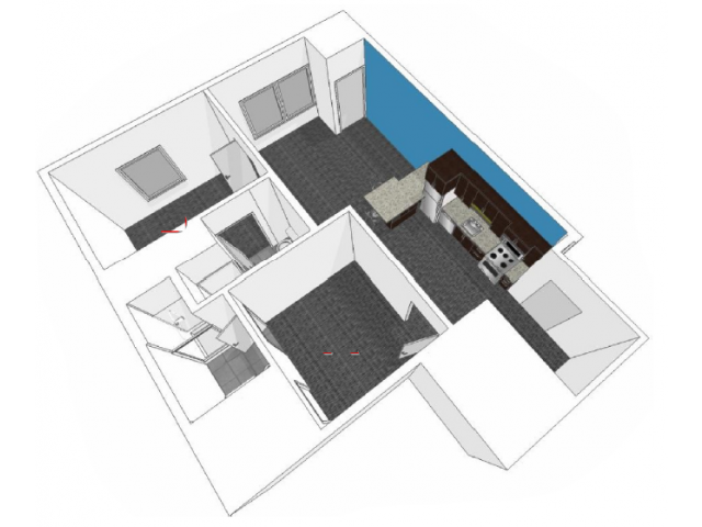 Den 3: One Bedroom with Den Floor Plan 9