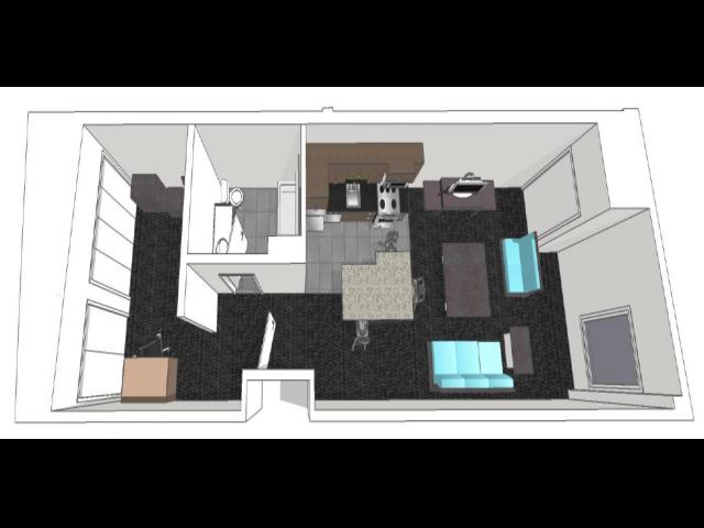 Village 2: Studio Floor Plan 2