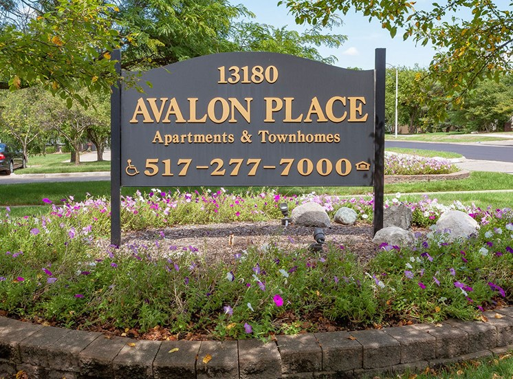 Entrance Sign at Avalon Place