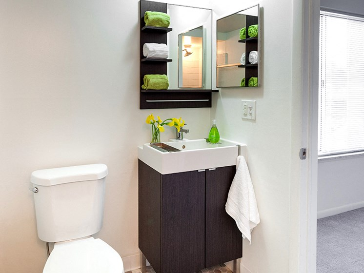 Spacious Bathrooms at Cranbrook Center Apartments,Southfield Michigan