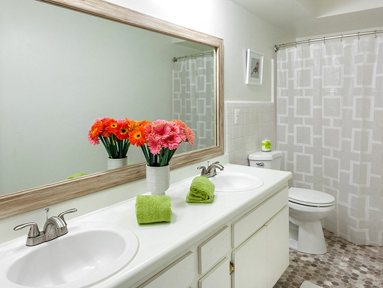 Custom Framed Bathroom Mirrors at Cranbrook Center Apartments,Southfield, 48076