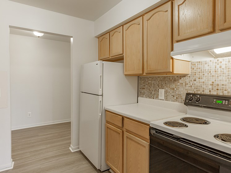 Bright Kitchens at Cranbrook Center Apartments,Michigan, 48076