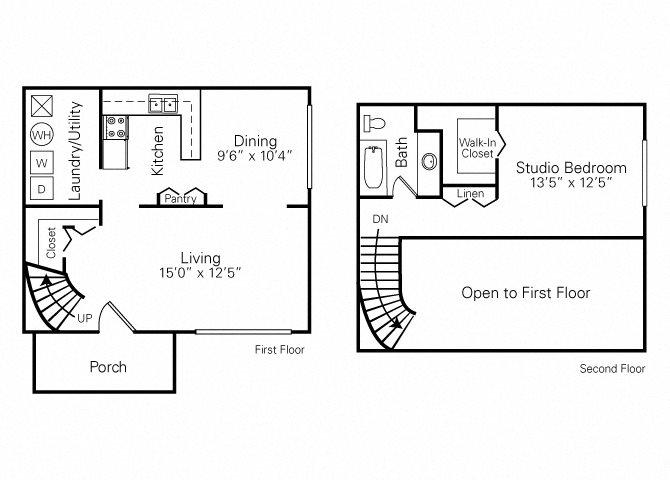 1 Bedroom (Loft) Floor Plan 1