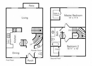 2 Bedroom (Reverse)