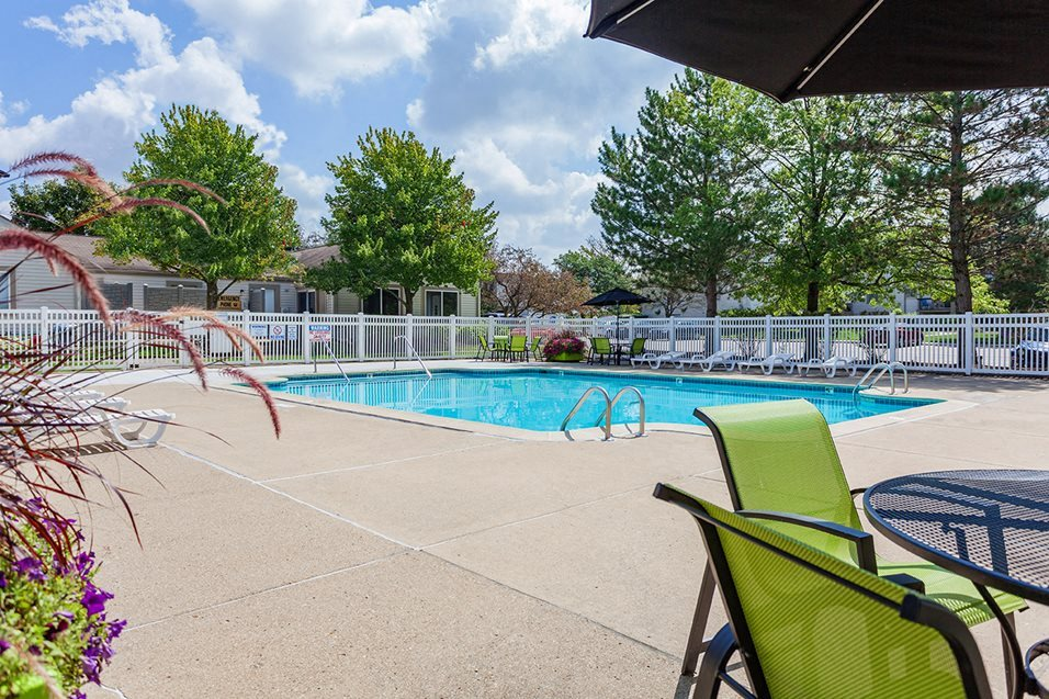 Lounging by the Pool at Sterling Lake Apartments,Sterling Heights,48312