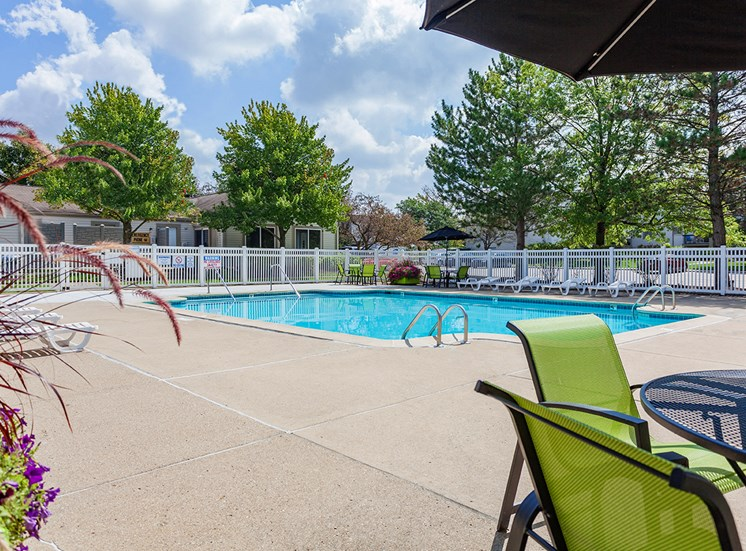 Beautiful Pool at Sterling Lake Apartments in Sterling Heights, MI