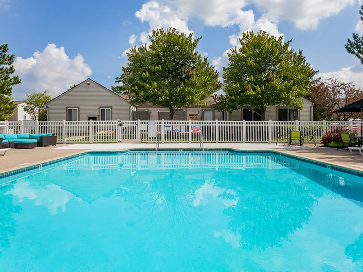 Sparkling Swimming Pool at Sterling Lake Apartments,Sterling Heights Michigan
