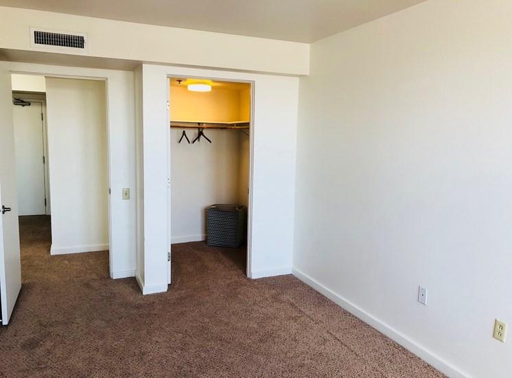 Closet at LeClaire Apartments in Moline, IL
