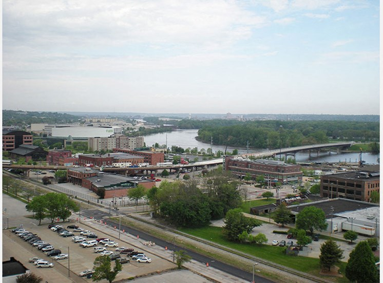 Gorgeous views at LeClaire Apartments in Moline, IL