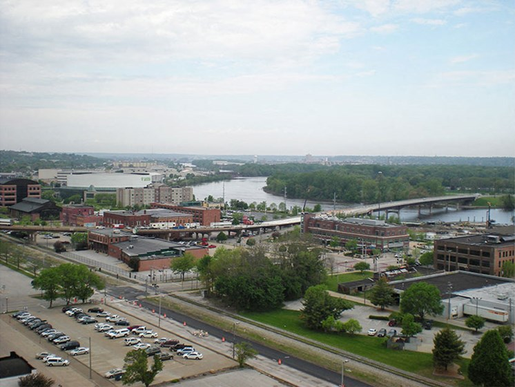 Gorgeous views from LeClaire Apartments in Moline, IL