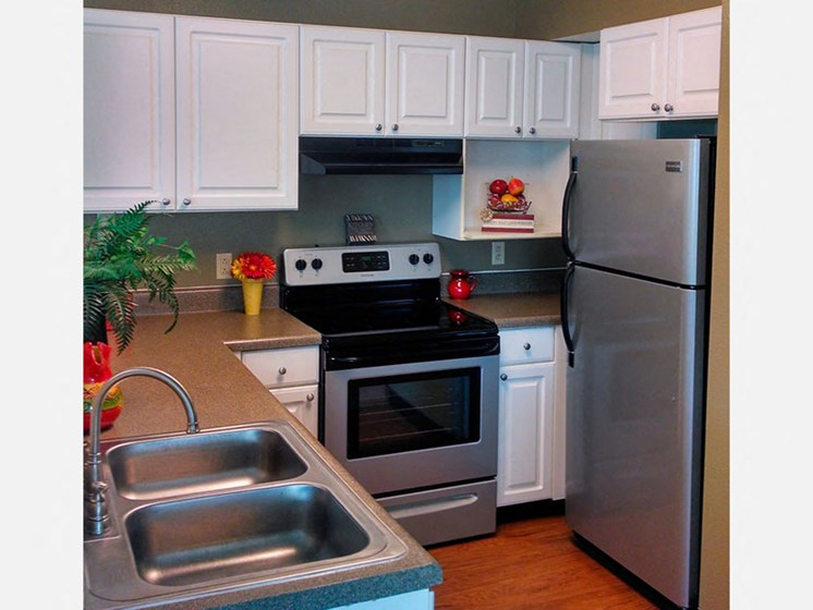 Kitchen at LeClaire Apartments in Moline, IL