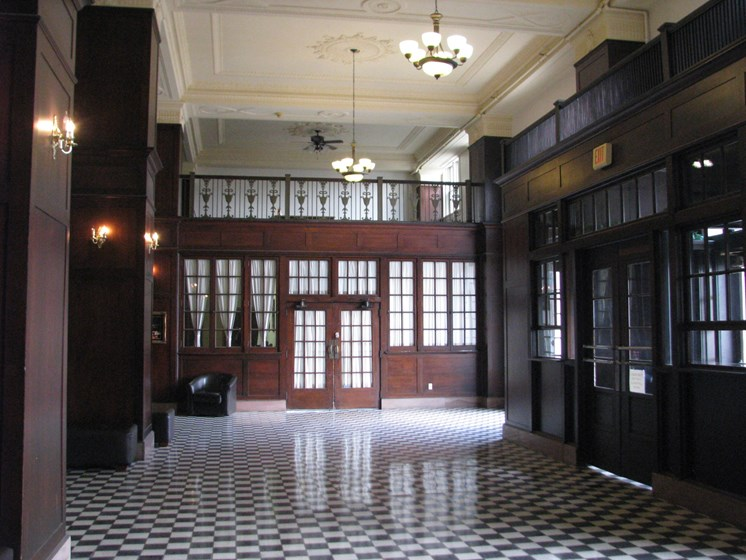 Main Lobby at LeClaire Apartments in Moline, IL