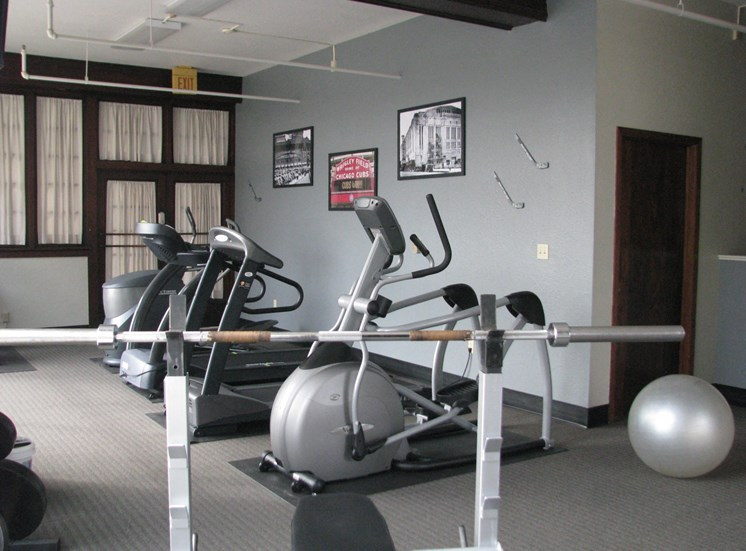 Workout at LeClaire Apartments in Moline, IL