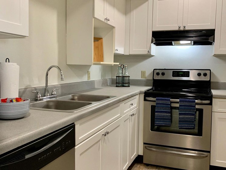 Upgraded Kitchen at LeClaire Apartments in Moline, IL