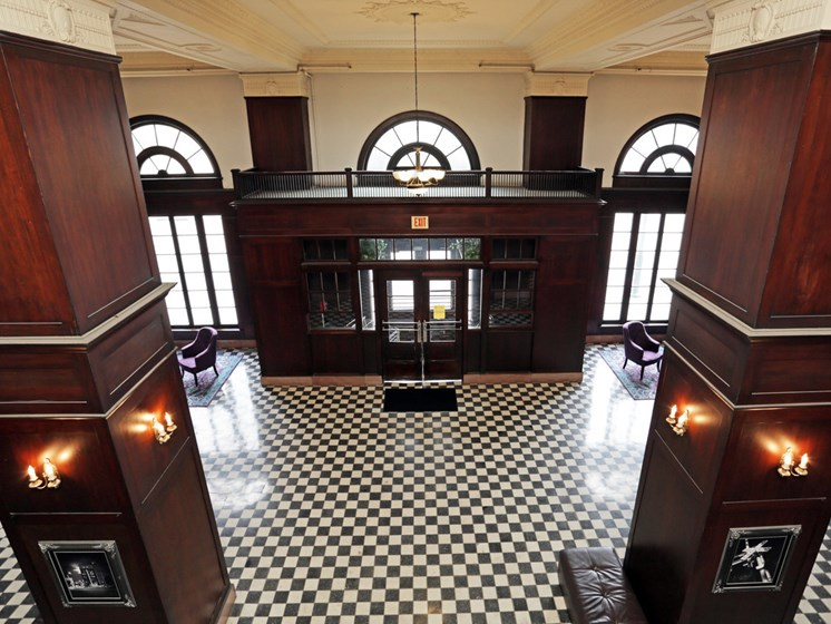 Historic Lobby at LeClaire Apartments in Moline, IL