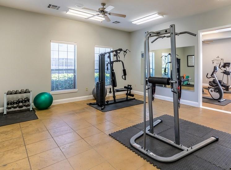Weight Training Equipment at Bridgemoor at Killeen in Killeen, Texas, TX