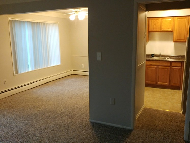 Open Floor Plan at Green Acres Apartments,Saginaw Michigan