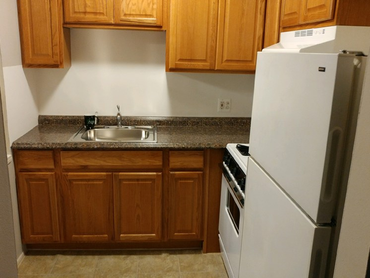 Rich Shaker Style Cabinetry at Green Acres Apartments,4645 Colonial Drive, Saginaw