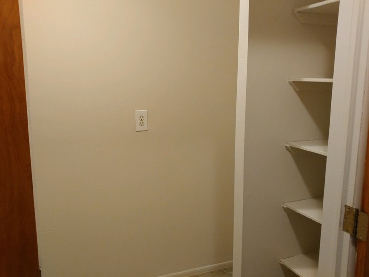 Built in Shelves at Green Acres Apartments,Saginaw, 48603