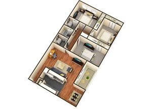 Three Bedroom One and One Half Bath