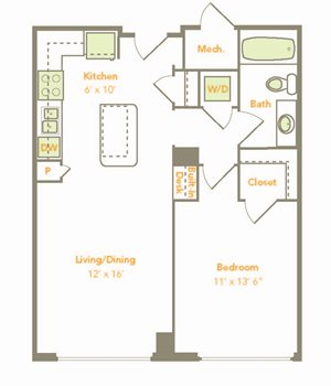 One Bedroom (1F, 1G)
