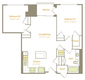Two Bedroom (2A)