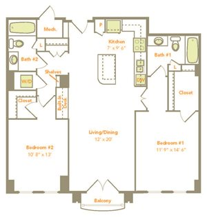 Two Bedroom (2J)