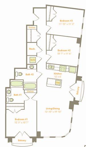 3 Bedroom (3A-A)