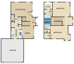 The Windsor Townhomes and Apartments - Floor Plans