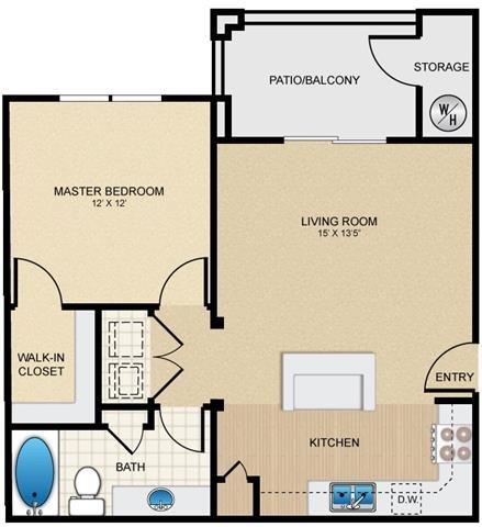 Mission Hills Luxury Apartments in San Antonio, TX - Floor Plans