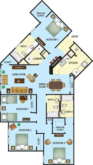The Loop Apartments for rent in Kissimmee, FL. Make this community your new home or visit other Concord Rents communities at ConcordRents.com. Four bedroom
