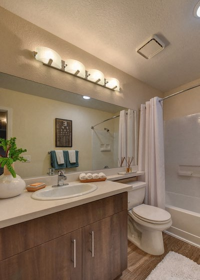 Luxury Apartment Community Bathroom with Vanity