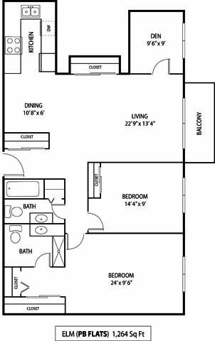 Pebblebrook Flats and Court Bloomington, MN Deluxe 3 Bedroom 1.75 Bathroom Apartment
