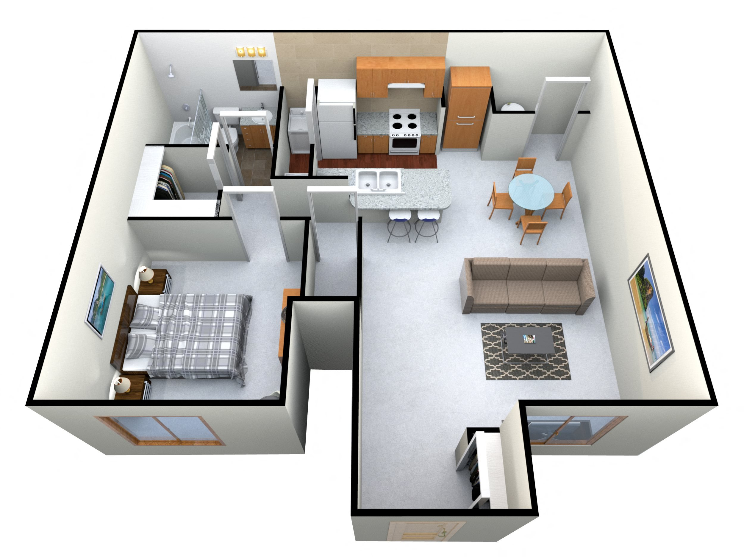 The Orion 1 2 3 Bedroom Apartments Floor Plans