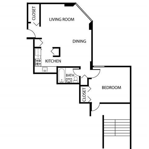 1 Bed Low Rise Floor Plan 1